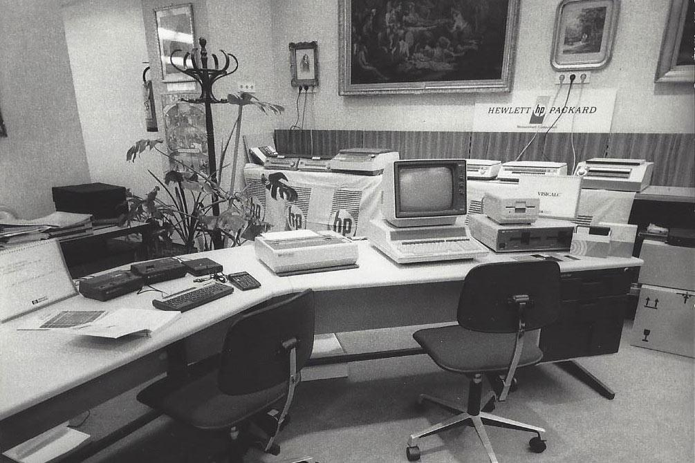 Erste PCs im Büro